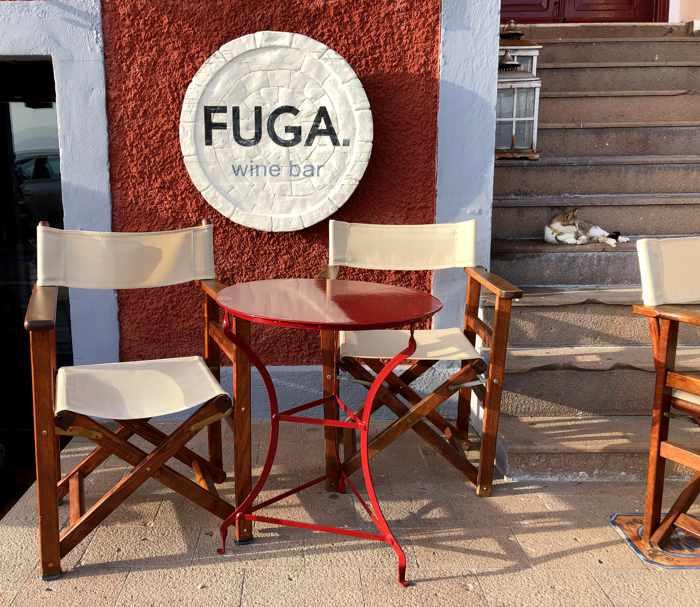 Fuga Wine Bar in Molyvos on Lesvos