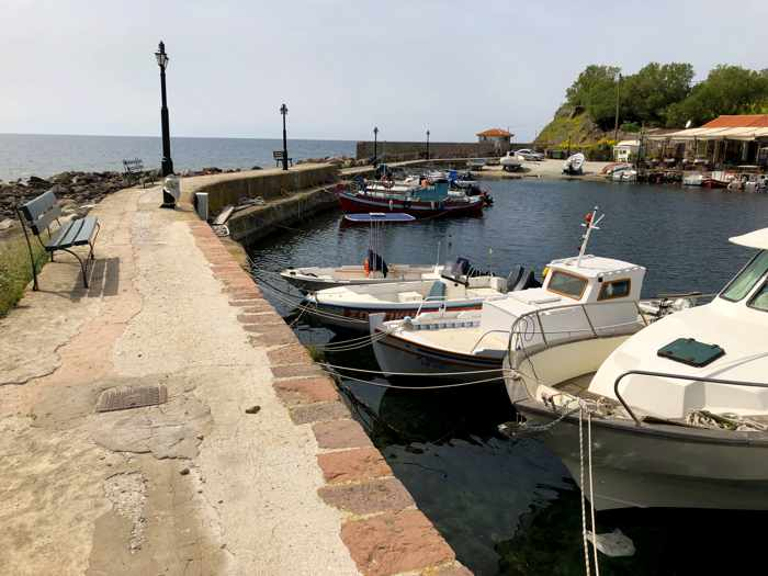 the harbour at Molyvos on Lesvos island