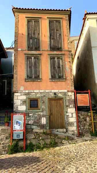 a building in Molyvos on Lesvos island