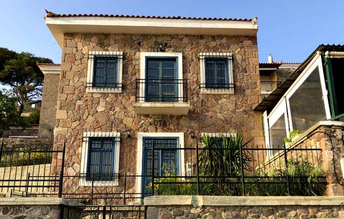 a stone house in Molyvos on Lesvos island