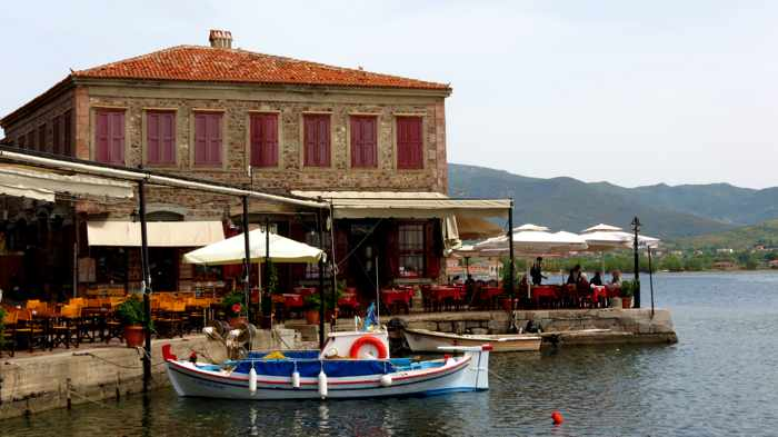 The Octapus Restaurant at Molyvos harbour on Lesvos island
