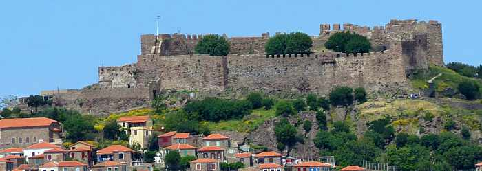 Molyvos Castle on Lesvos island