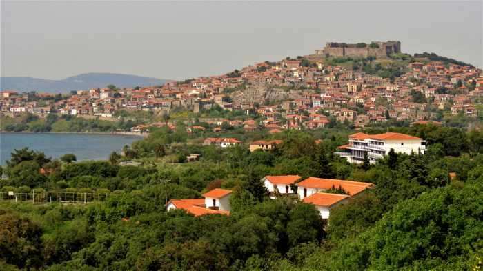 Molyvos town on Lesvos island
