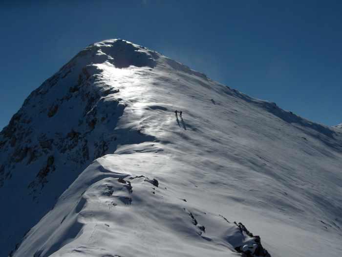 Incredible Crete photo of climbers on Spathi peak of Dikti Mountains in Lasithi region of the island