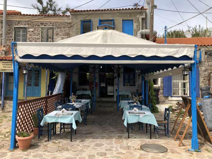 Kismet Restaurant at Molyvos harbour on Lesvos island