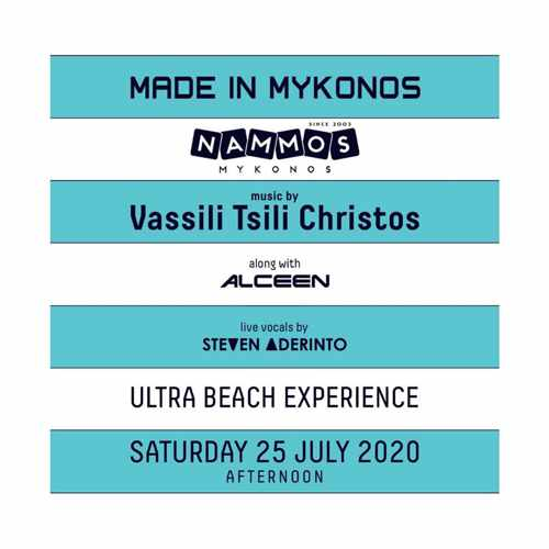 Made in Mykonos 2020 live music event at Nammos Mykonos July 25