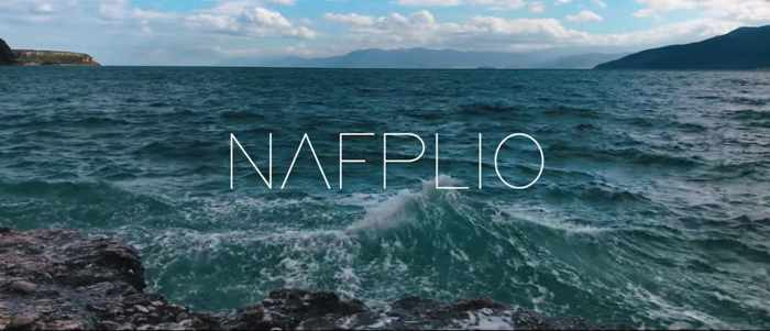 Screenshot of opening sequence for Nafplio video by Andrei Dima