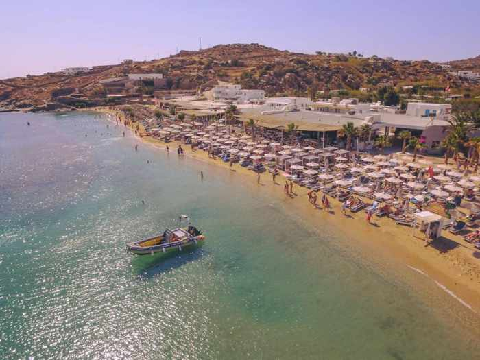 Tropicana Mykonos aerial view photo from the clubs page on Facebook