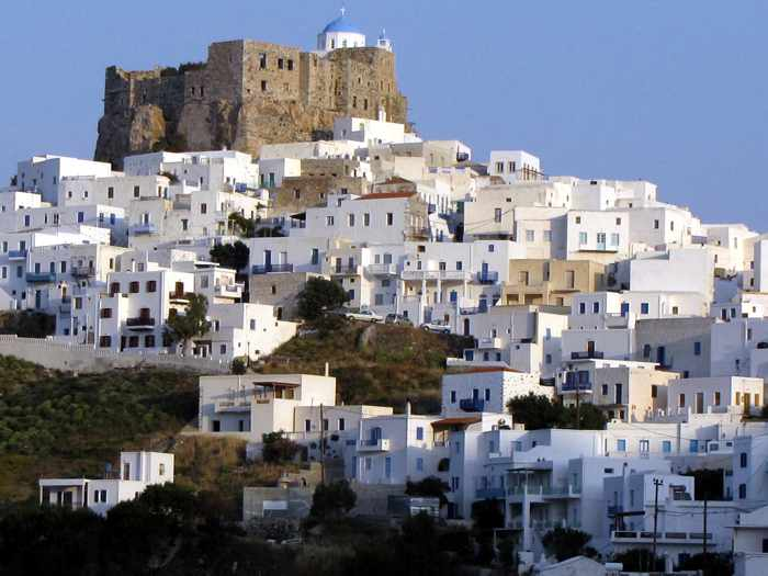 Chora and the castle on Astypalia island