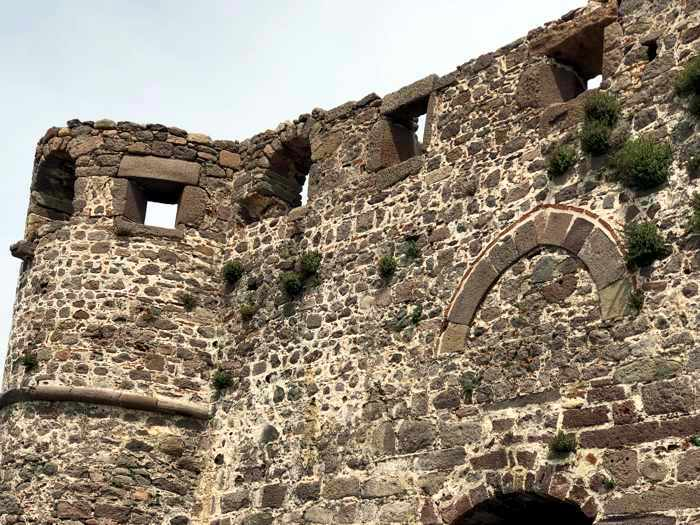 outer wall of the Castle of Molyvos on Lesvos island