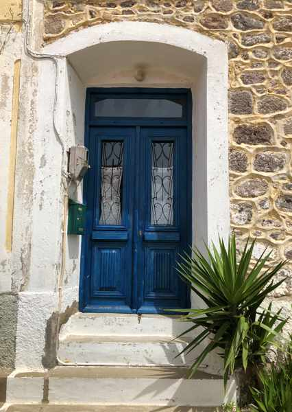 door at a house in Molyvos on Lesvos island