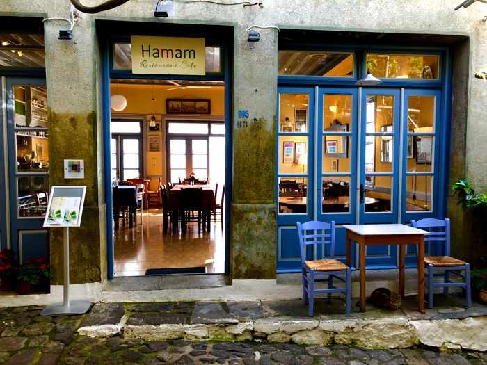Hammam restaurant in Molyvos on Lesvos island