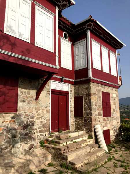 Municipal art gallery building in Molyvos on Lesvos island
