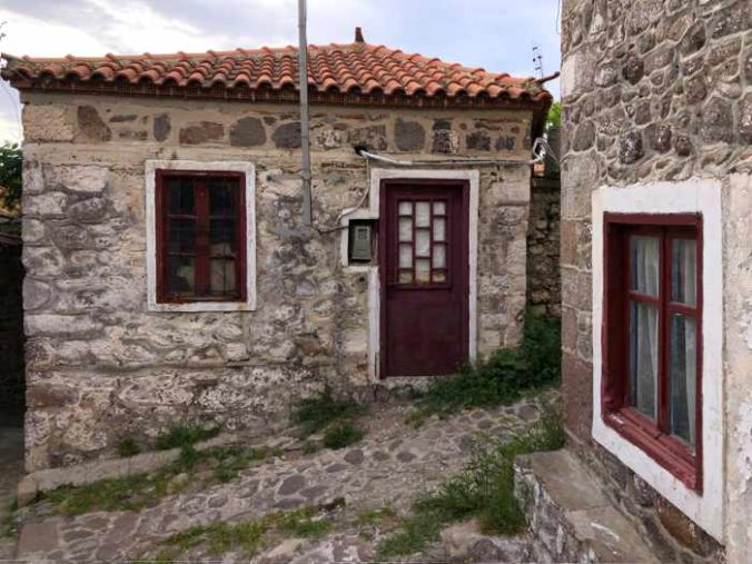 houses in Molyvos on Lesvos island