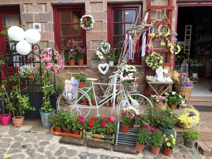 a flower shop in Molyvos town on Lesvos island