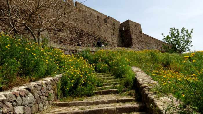 approaching the Castle of Molyvos on Lesvos
