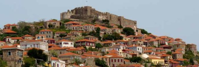 The Castle of Molyvos on Lesvos island