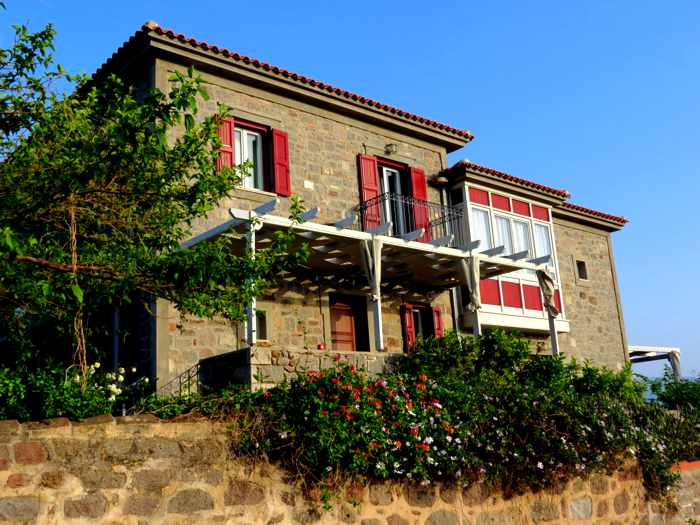 a mansion in Molyvos town on Lesvos island