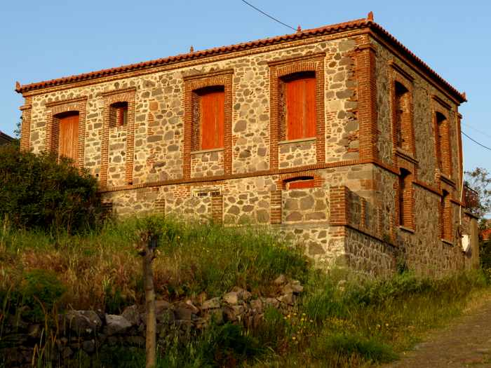 a derelict mansion in Molyvos town on Lesvos island