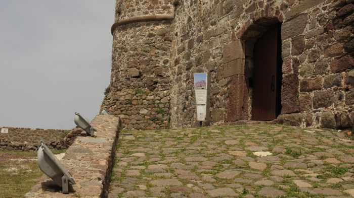 approaching the entrance to the Castle of Molyvos on Lesvos island