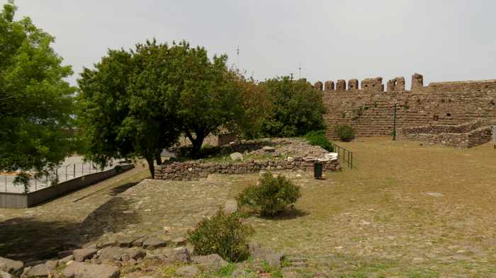 inside the Castle of Molyvos on Lesvos island