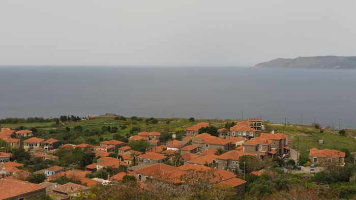 view from the Castle of Molyvos on Lesvos island