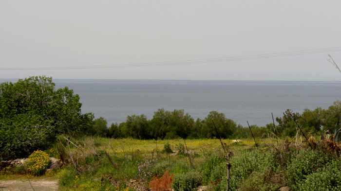 sea view from a hillside in Molyvos on Lesvos island