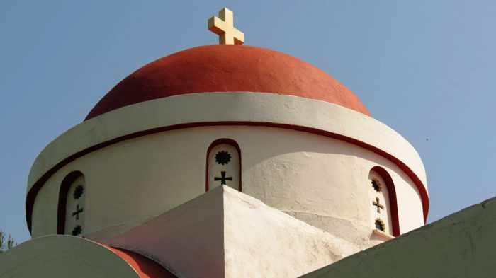 Agios Theoktisti Church in Molyvos on Lesvos island