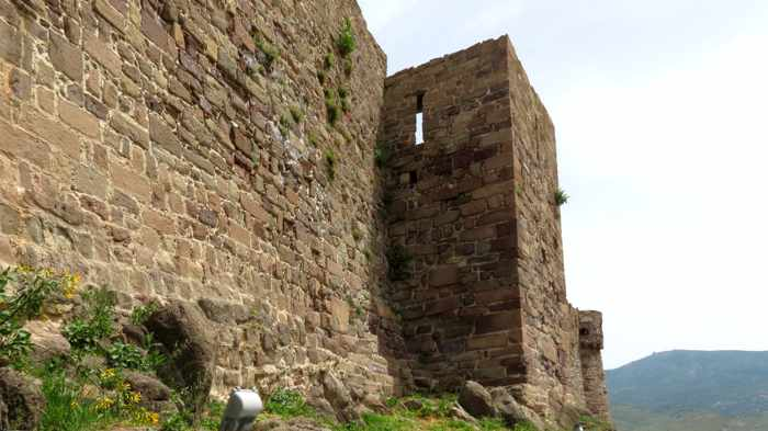 outer wall of the Castle of Molyvos on Lesvos