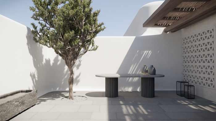An image depicting the exterior of Kalesma Mykonos Hotel