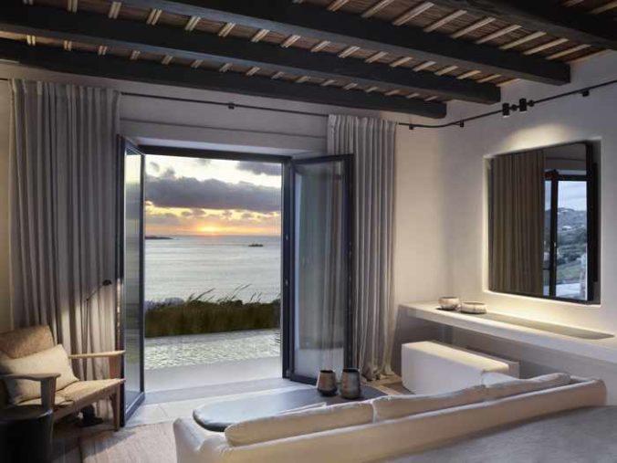 Kalesma Mykonos hotel suite bedroom area