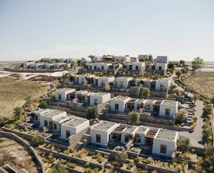 Aerial view of Kalesma Mykonos hotel
