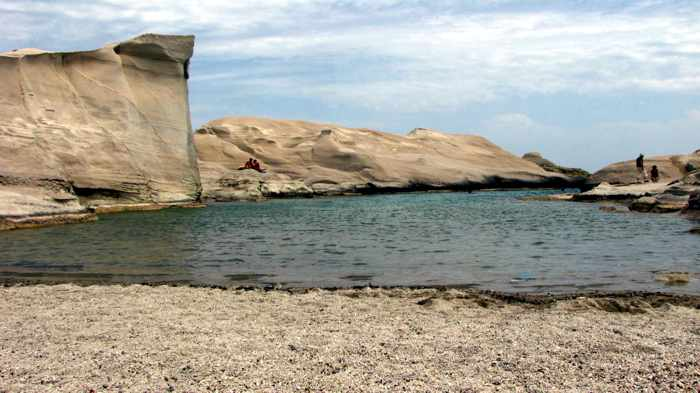 Sarakiniko beach on Milos island
