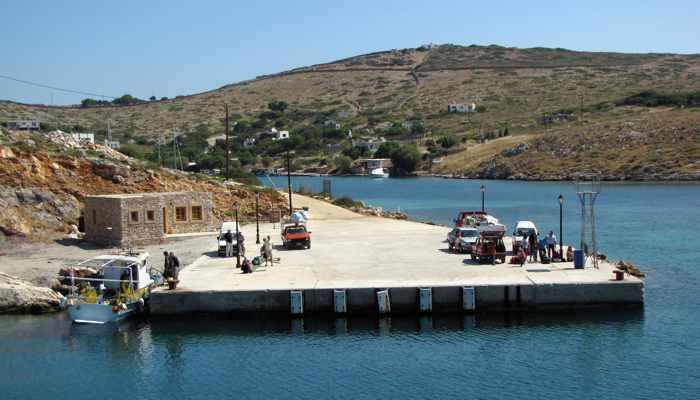 Arkoi island ferry port