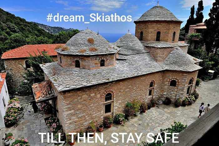 Atlas Hotel Instagram photo of the Evangelistria Monastery on Skiathos