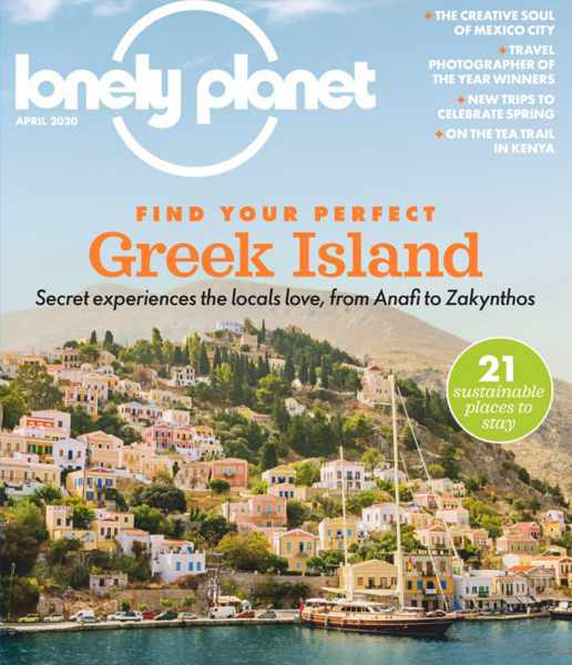 Cover of the April 2020 edition of Lonely Planet travel magazine