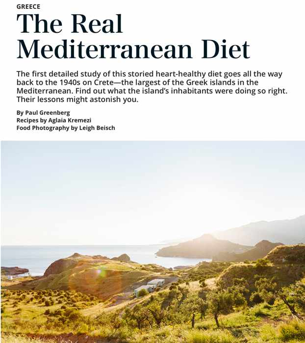 EatingWell March 2020 article abut the Mediterranean diet