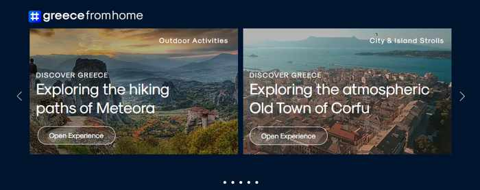 Screenshot 02 of discovery tours on the greecefromhome website