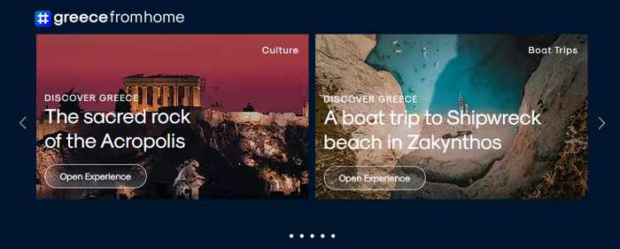 Screenshot 03 of discovery tours on the greecefromhome website