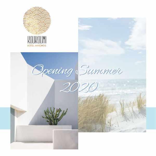Koukoumi Hotel Mykonos 2020 opening announcement