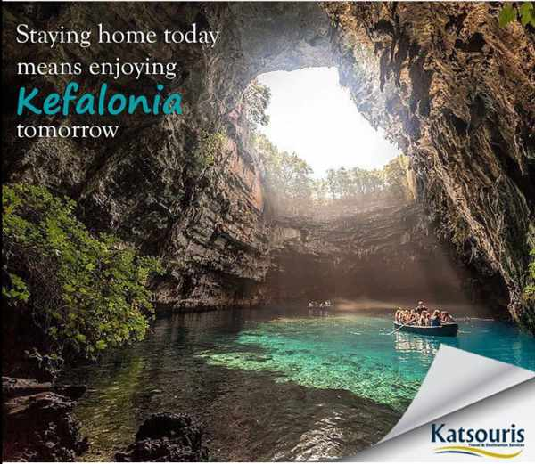 Melissani Cave on Kefalonia island