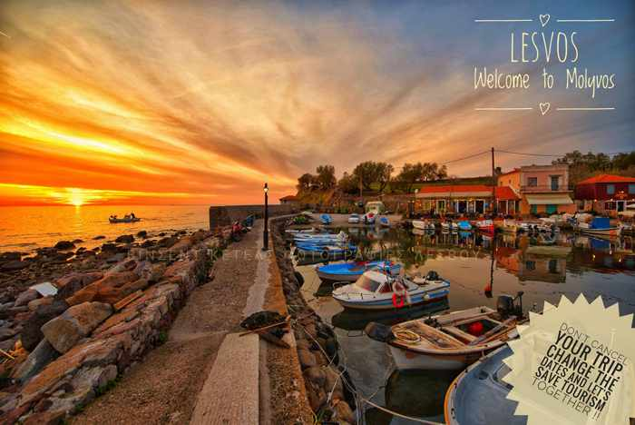 Sunset photo by Facebook member Vkt Ketels of Molyvos on Lesvos island