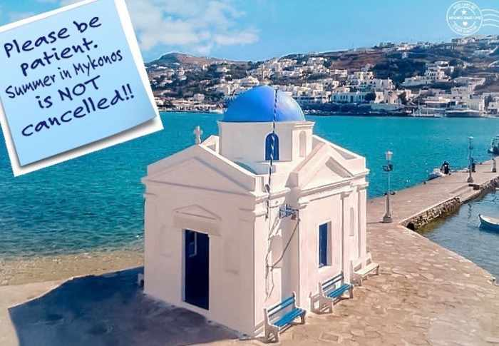 Mykonos stay safe see you soon post by Post Card ME Mykonos-Greece