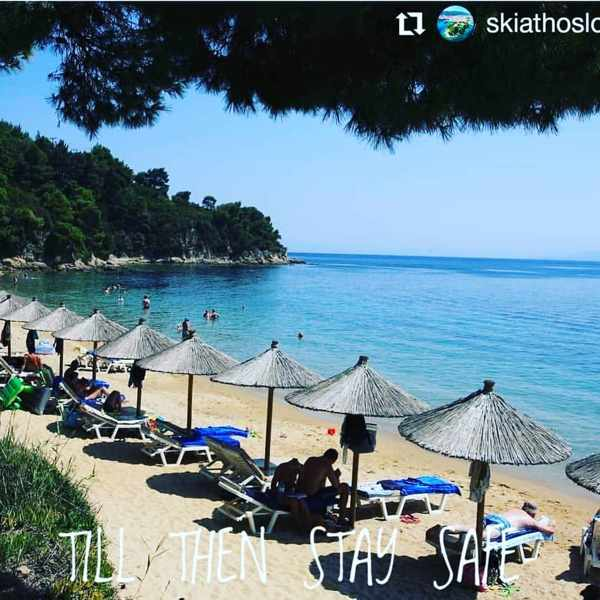 SkiathosPalace Instagram photo of Maratha beach Skiathos