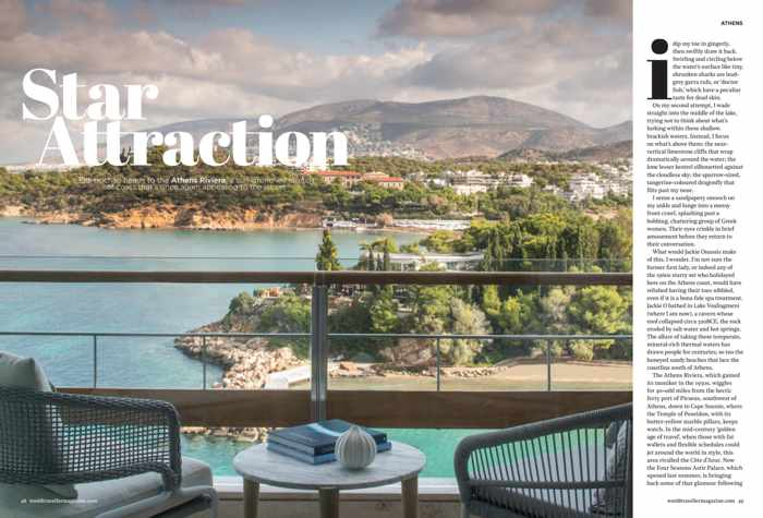 Athens Riviera article in the March 2020 issue of World Traveller magazine