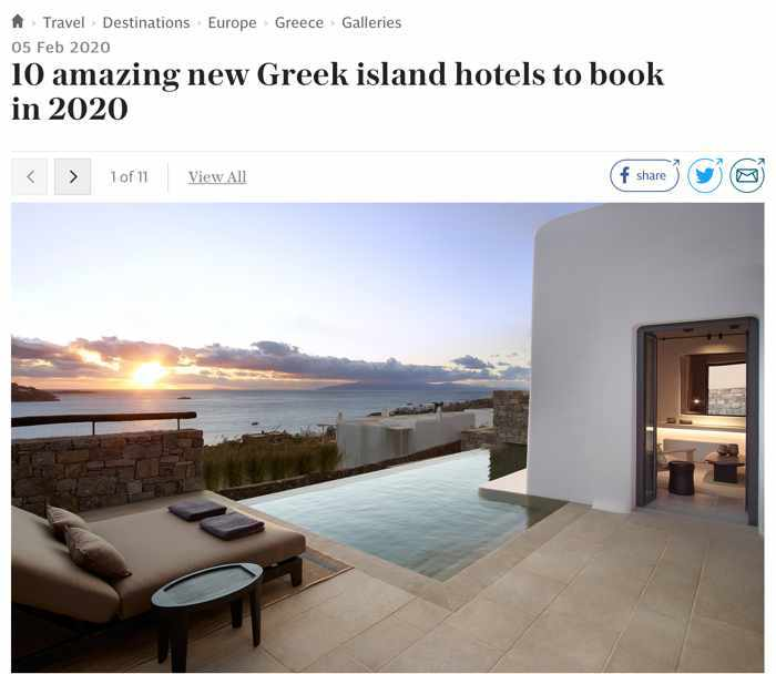 The Telegraph photo gallery of amazing Greek hotels