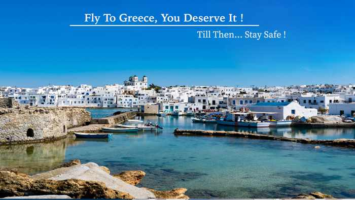 Naroussa village on Paros island