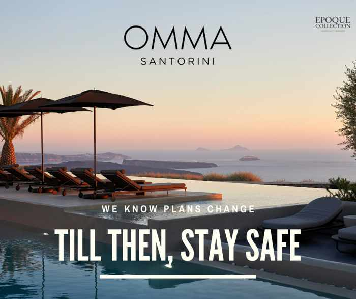 Till Then Stay Safe photo from Omma Santorini Facebook page
