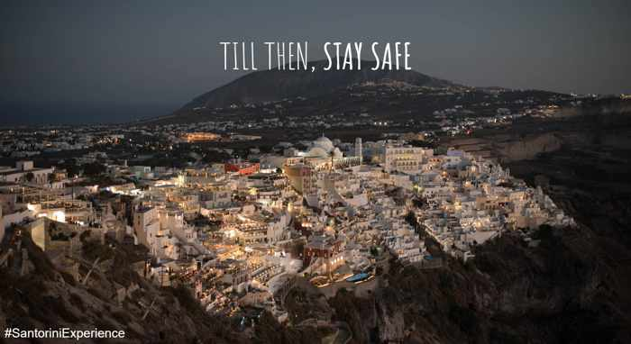 Till Then Stay Safe photo of Fira Santorini from the Facebook page for Santorini Experience