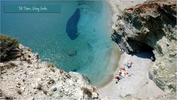 Vrahas Boutique Hotel photo of a secluded beach on Folegandros island
